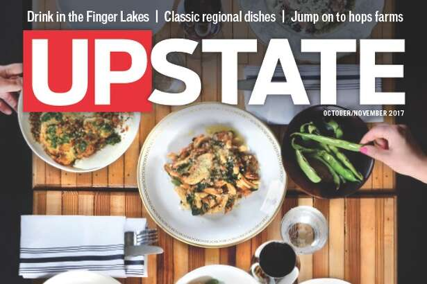 The October/November cover for Upstate magazine. (Design and photo by Colleen Ingerto)
