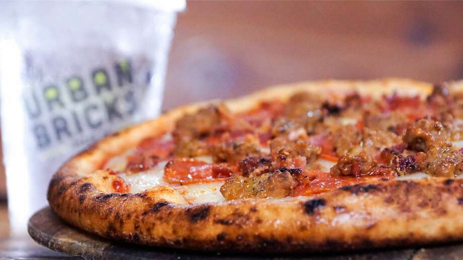 Three Little Pigs pizza at Urban Brick Pizza in Richmond. Photo: Urban Bricks Pizza