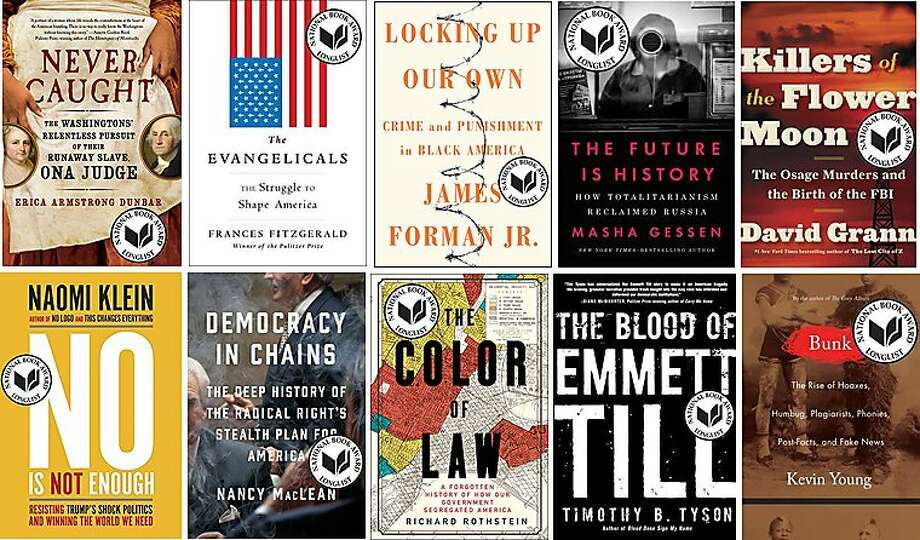 The nonfiction longlist for the National Book Award. Photo: National Book Foundation
