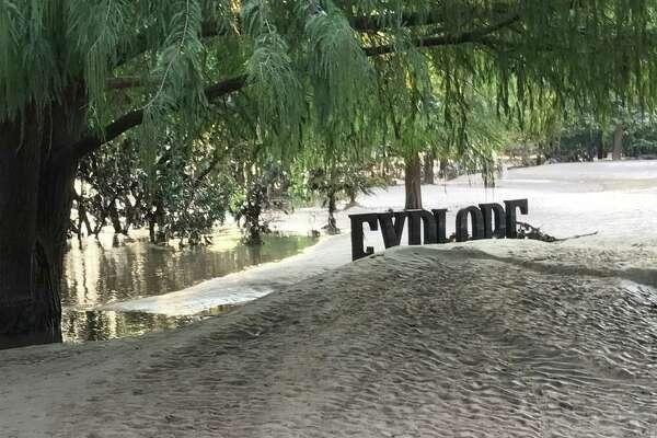"Anthony Thompson Shumate's ""Monumental Moments"" public sculptures at Buffalo Bayou Park on Tuesday, Sept. 12, 2017, after Hurricane Harvey."