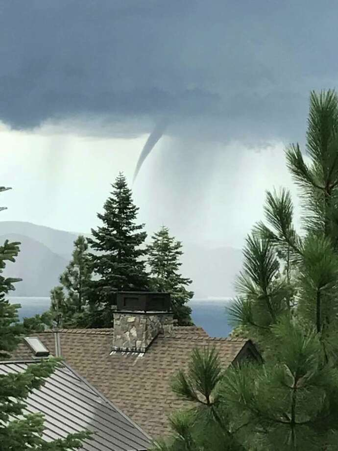 A water spout formed over Lake Tahoe on Sept. 13th, 2017. Photo: North Lake Tahoe Fire