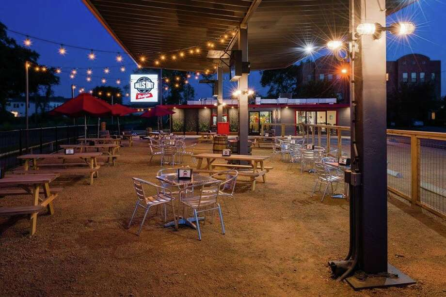 Balls Out Burger patio on N. Durham Drive in the Heights. Photo: Submitted / Dee Zunker