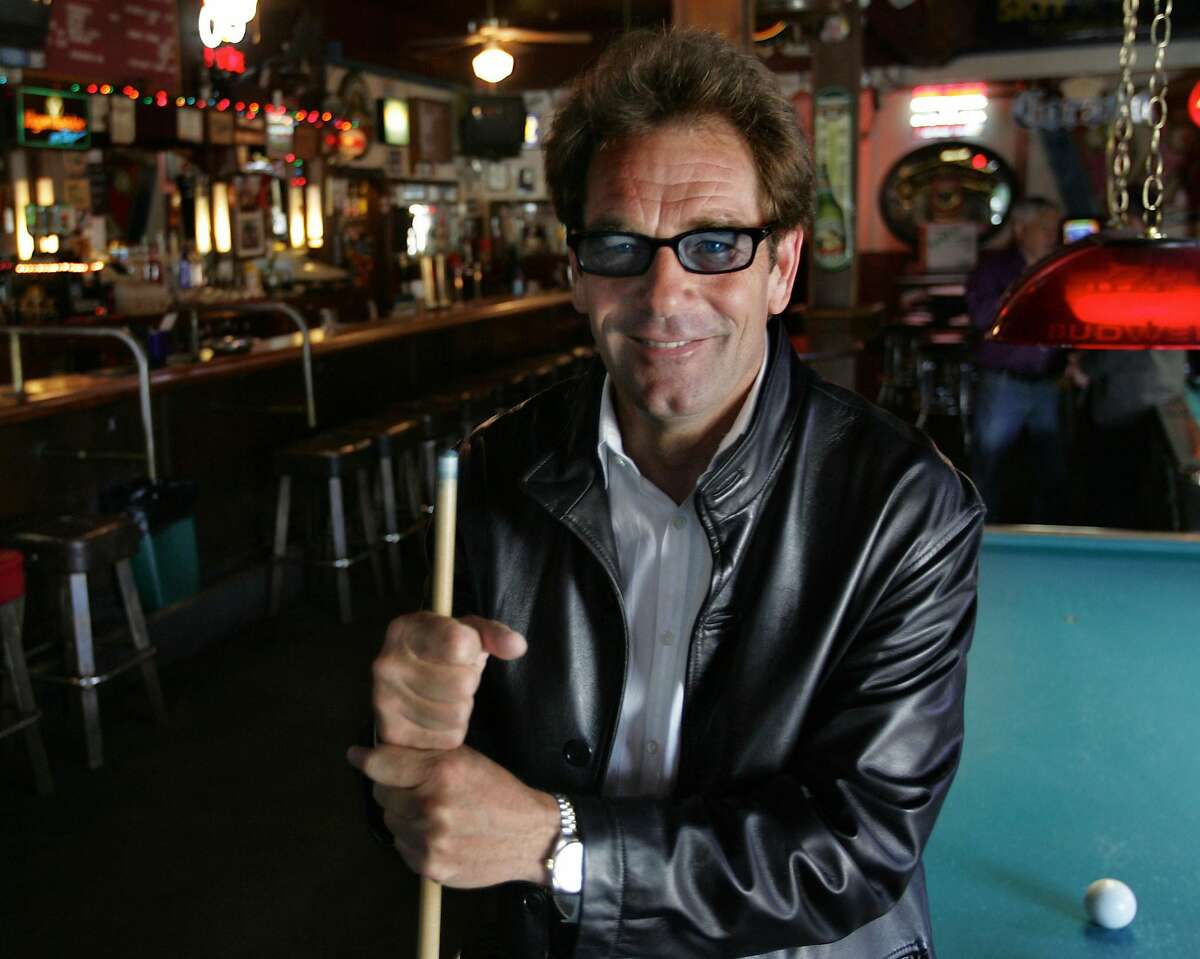 """Huey Lewis at the """"2am Club"""" in Mill Valley, Huey's old watering hole which the bar was featured on the cover of the Huey Lewis and the News LP """"Sports."""" Huey Lewis and the News will be performing at the Marin County Fair the summer of 2005."""