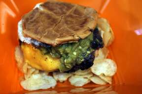 A cheeseburger made with New Mexico Hatch chilis is a favorite of Toastie Buns owner and chef Dominic Chacon.