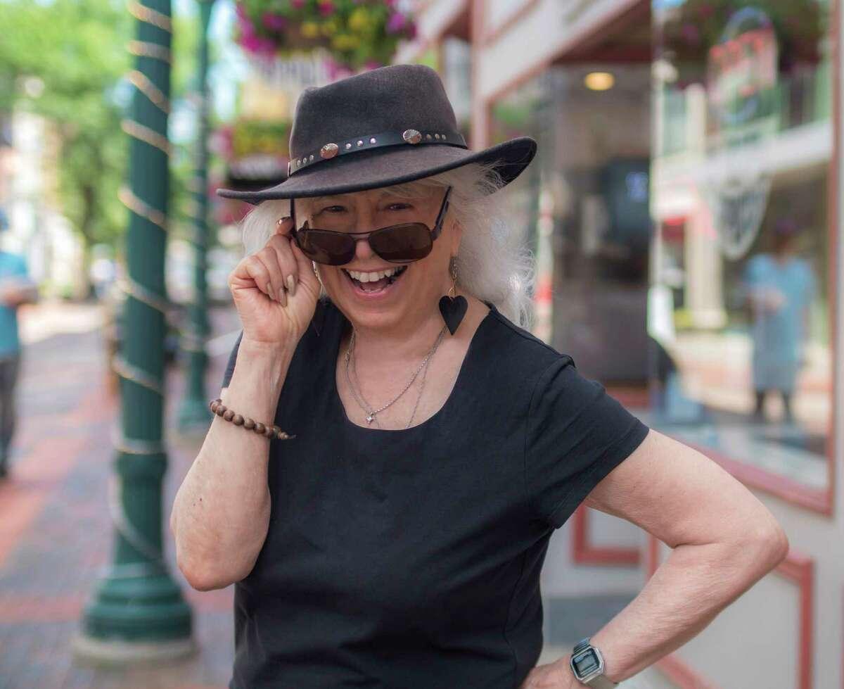 Ann Parillo on the street in Schenectady. (Photo by Richard Lovrich/Proctors)