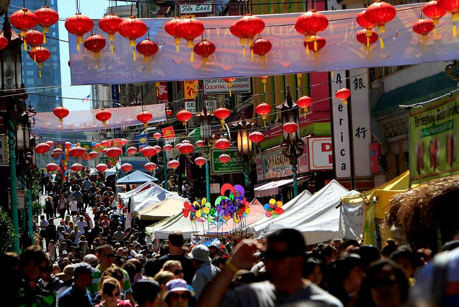 Crowds pack Grant Ave. for the 22nd annual Autumn Moon Festival in Chinatown in San Francisco, Calif., Saturday, September 22, 2012. Photo: Sarah Rice, Special To The Chronicle