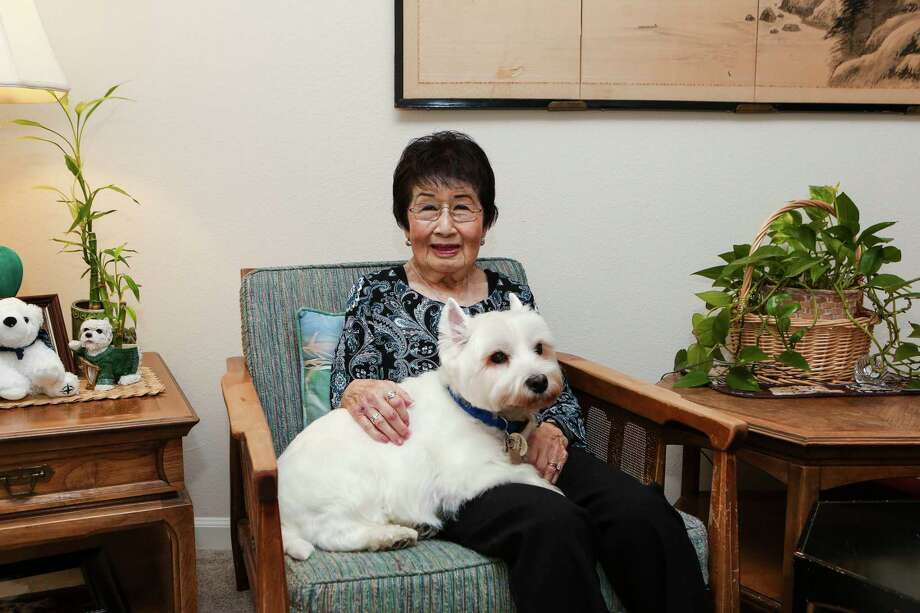 Marian Takehara, a resident at Parkway Place, cherishes her 10-year old dog, Mateo. Photo: Daniel McQuade