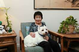 Marian Takehara, a resident at Parkway Place, cherishes her 10-year old dog, Mateo.