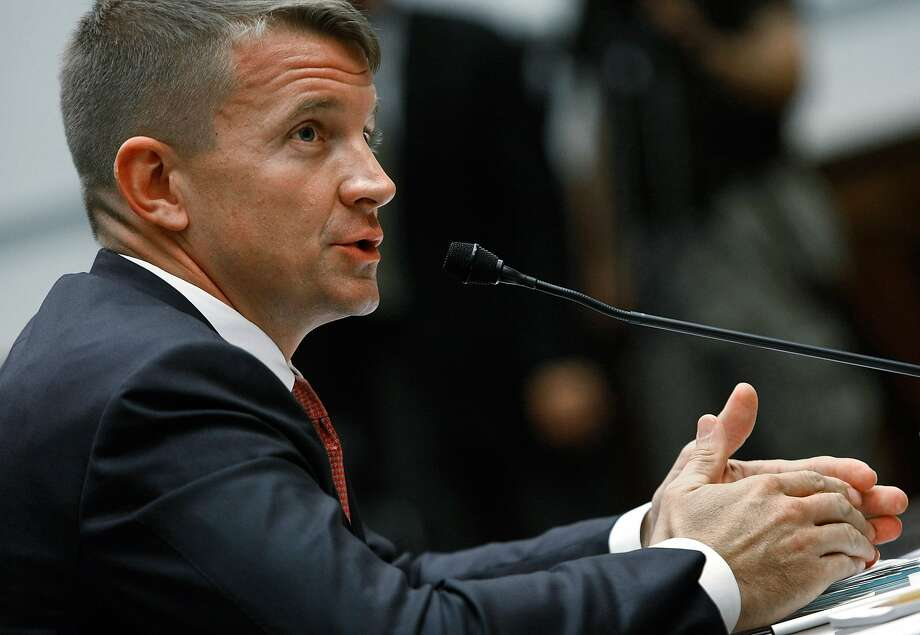 Erik Prince, founder of the security company formerly known as Blackwater, testifies during a House Oversight and Government Reform Committee hearing on Capitol Hill on Oct. 2, 2007 in Washington, D.C. Photo: Mark Wilson, Getty Images