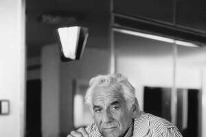 Leonard Bernstein at his country home in Fairfield, Conn., in 1980.
