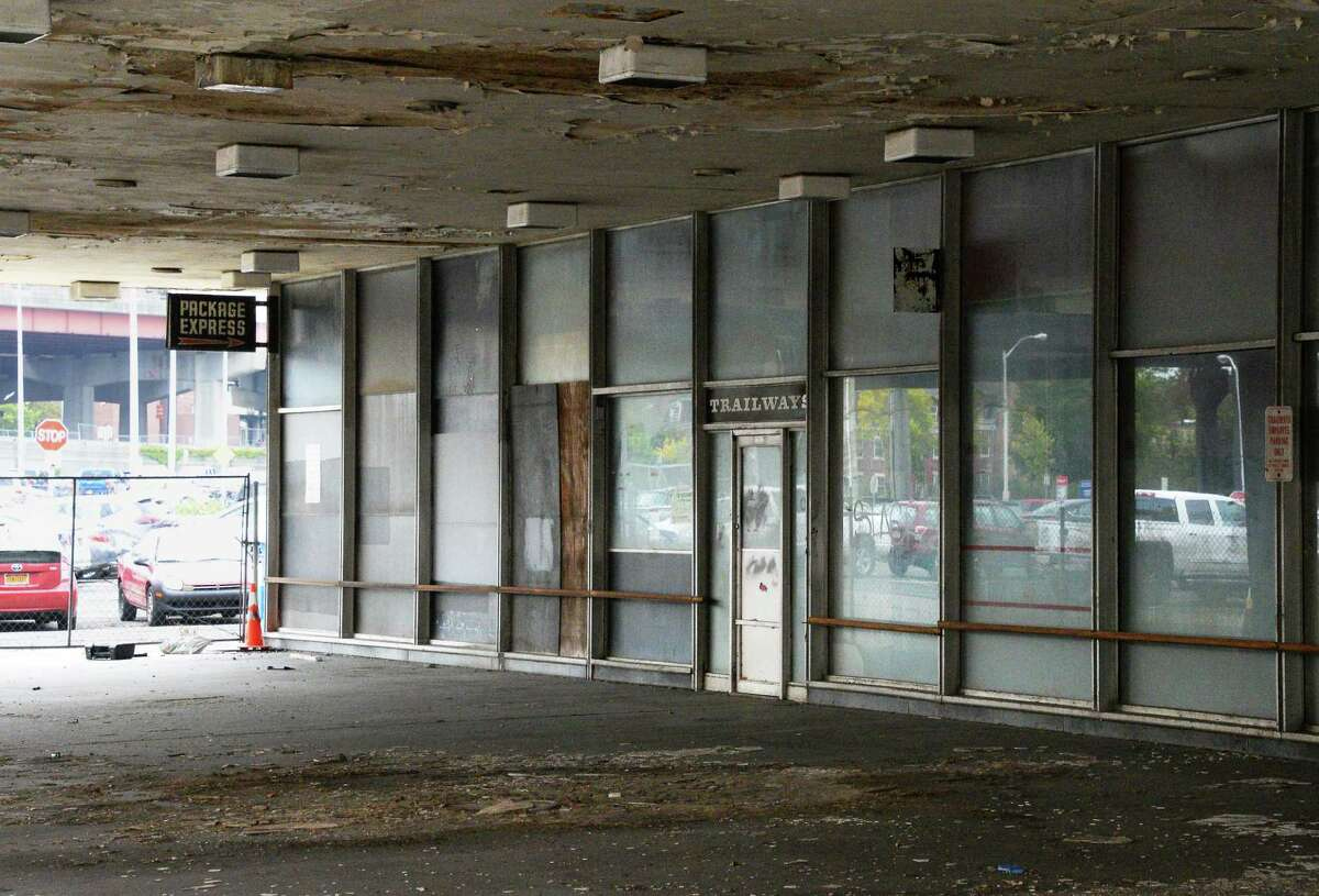 The old Trailways bus station on Broadway Thursday Sept. 14, 2017 in Albany, NY. (John Carl D'Annibale / Times Union)