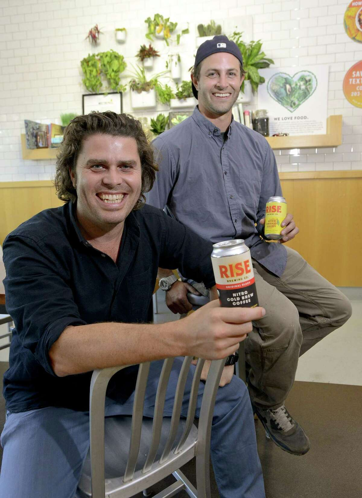 Jarrett McGovern and Justin Weinstein, co-founders of Rise Coffee Company, are photograph at Green and Tonic in Greenwich, Connecticut on Wednesday, August 30, 2017.