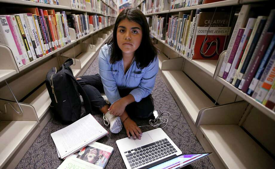 Luisa Lopez Alejandre, 18, is a DACA recipient and currently enrolled at Santa Ana College in Santa Ana, CA. She came to the U.S. with her parents at the age of 5, graduated from El Modena High School and wants to earn a degree and work in the field of sociology. DACA recipients arrived here illegally, have taken advantage of America's goodwill and feel entitled to stay, a reader says. Photo: Luis Sinco /TNS / Los Angeles Times
