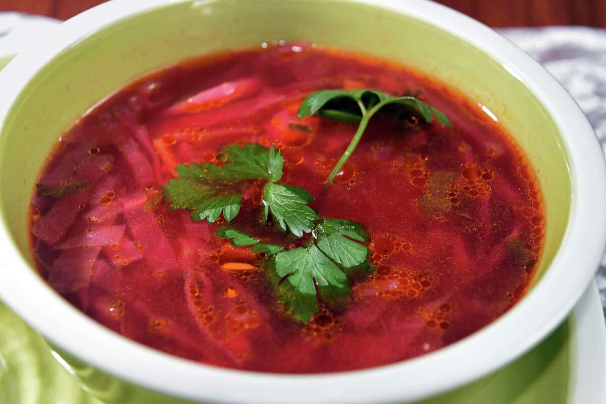 Borsch at the Slavonian European Cafe on Lark Street Friday Sept. 8, 2017 in Albany, NY. (John Carl D'Annibale / Times Union)