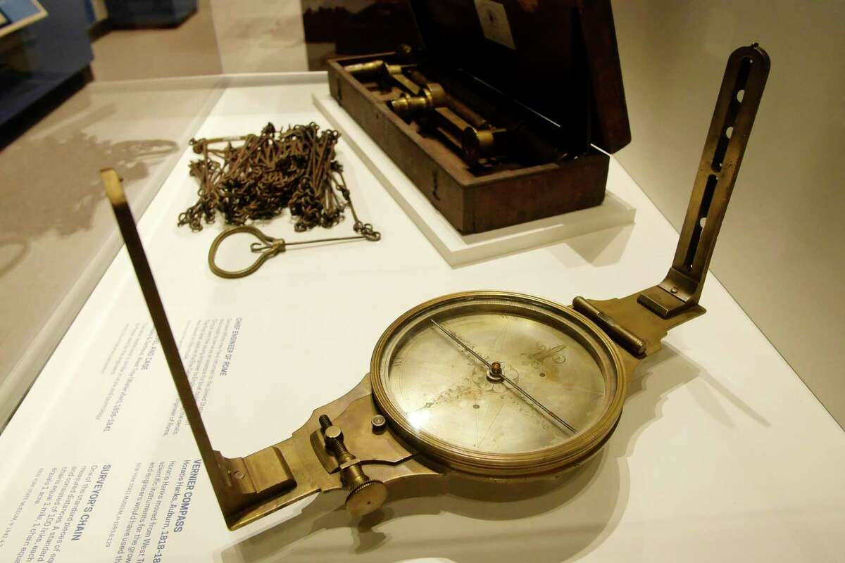 A view of some of the items that are part of the Enterprising Waters: New York's Erie Canal exhibit at the New York State Museum on Thursday, Sept. 14, 2017, in Albany, N.Y. (Paul Buckowski / Times Union)