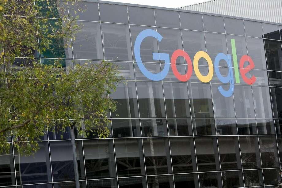 A logo sign outside of the headquarters of Google on Jan. 24, 2016 in Mountain View, Calif. (Kristoffer Tripplaar/Sipa USA/TNS) Photo: Kris Tripplaar, TNS