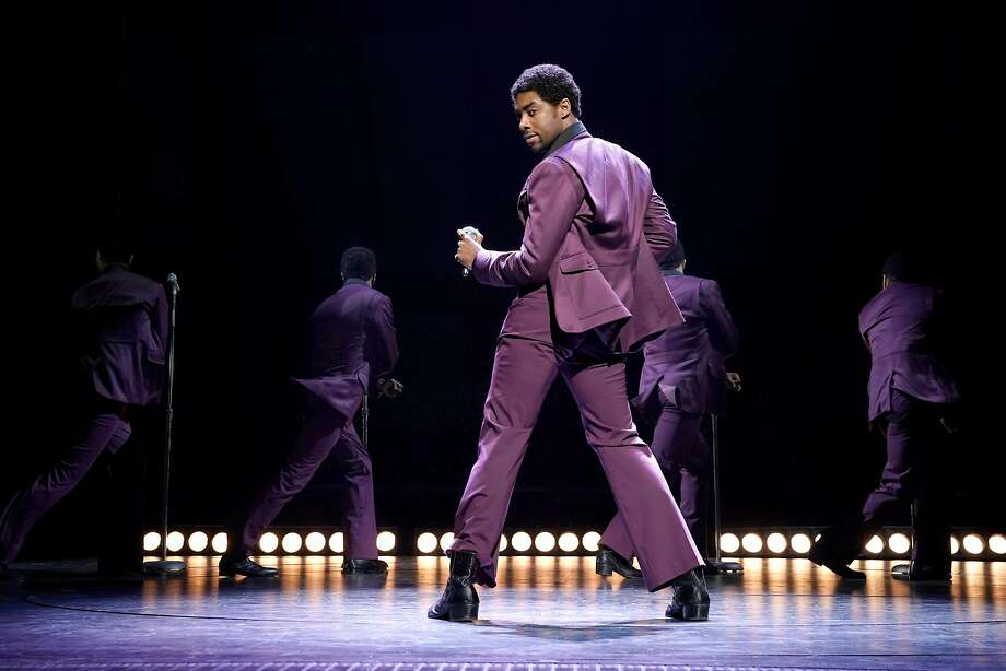 """Caliaf St. Aubyn as Dennis Edwards in """"Ain't Too Proud: The Life and Times of the Temptations."""" Photo: Kevin Berne, Berkeley Repertory Theatre"""