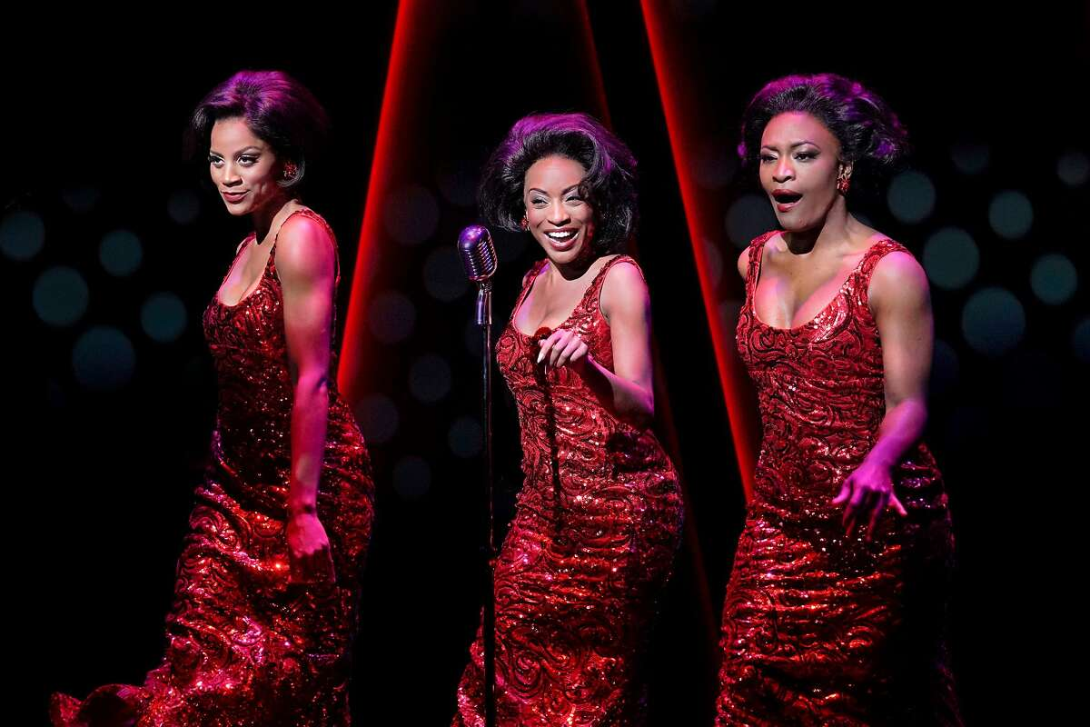 """From left:�Taylor Symone Jackson, Candice Marie Woods and Nasia Thomas as the Supremes�in """"Ain�t Too Proud � The Life and Times of the Temptations"""" at Berkeley Repertory Theatre."""