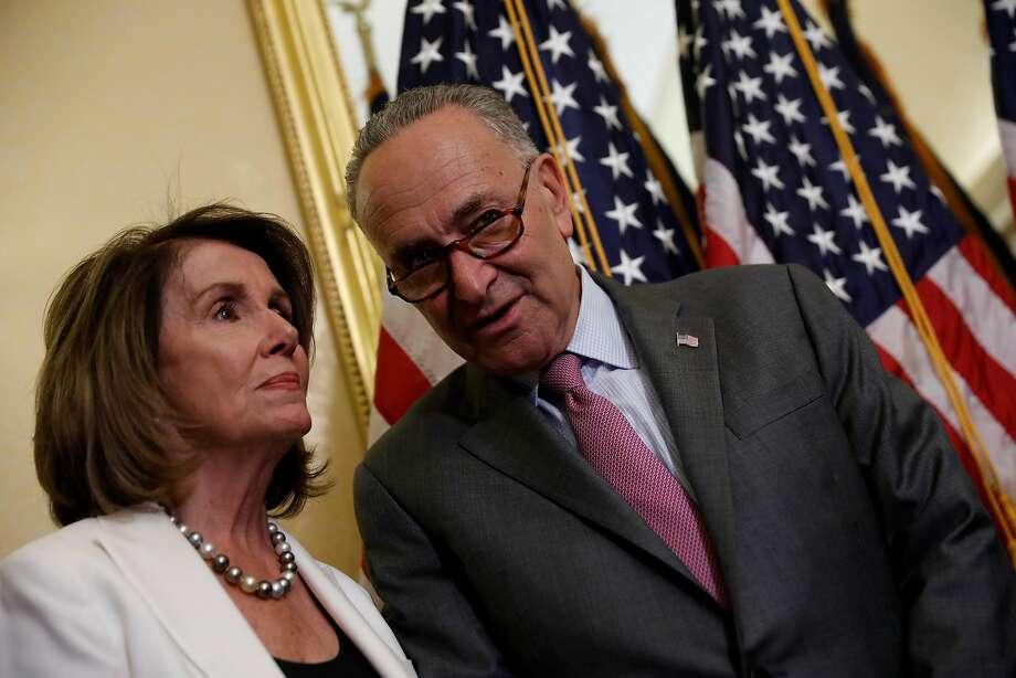 House Minority Leader Nancy Pelosi and Senate Minority Leader Chuck Schumer. Photo: Aaron P. Bernstein, Getty Images