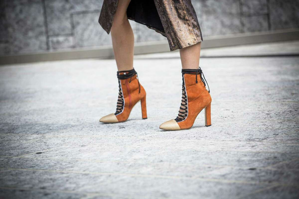 The block heel is on trend for fall. Wearing them says, I like heels, but I like my sanity better.