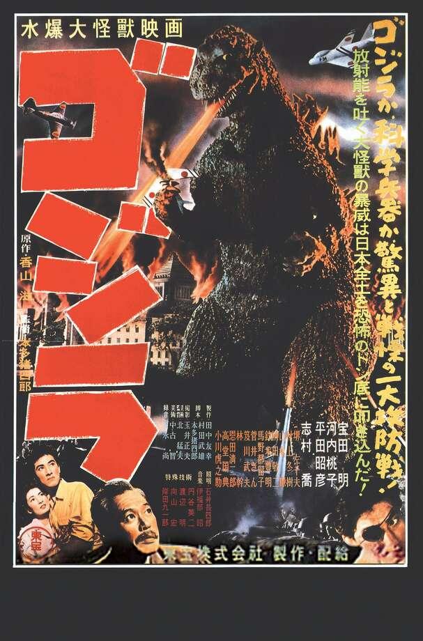 "The original 1954 ""Godzilla"" movie poster. Photo: Toho Film Co. / Contributed Photo / Connecticut Post Contributed"