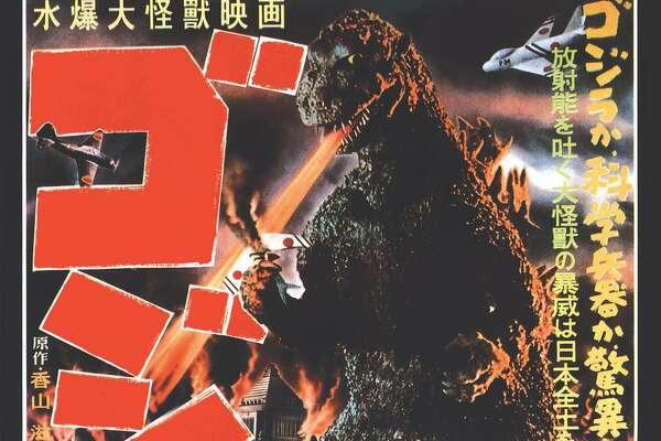 "The original 1954 ""Godzilla"" movie poster."
