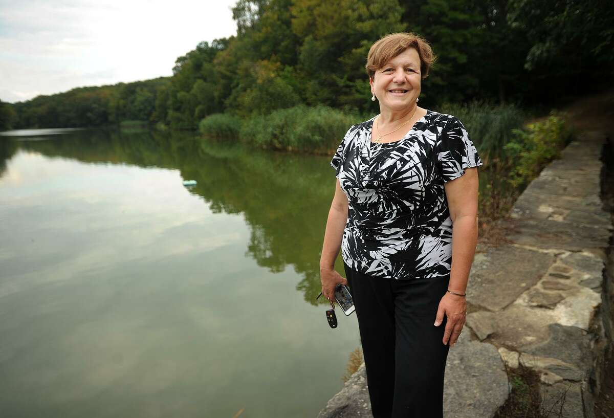 Derby Mayor Anita Dugatto, who celebrated a primary victory on Tuesday, at Witek Park in Derby, Conn. on Thursday, September 14, 2017.