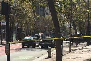 Shots were fired Thursday afternoon on Market Street, shutting down the area from Sixth to Seventh streets, police said. No injuries have been reported.
