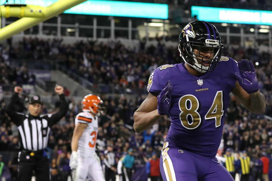 DARREN WALLER, TE, BALTIMORE RAVENS Waller was suspended at least a year for violating league's policy on substance abuse. Photo: Rob Carr/Getty Images