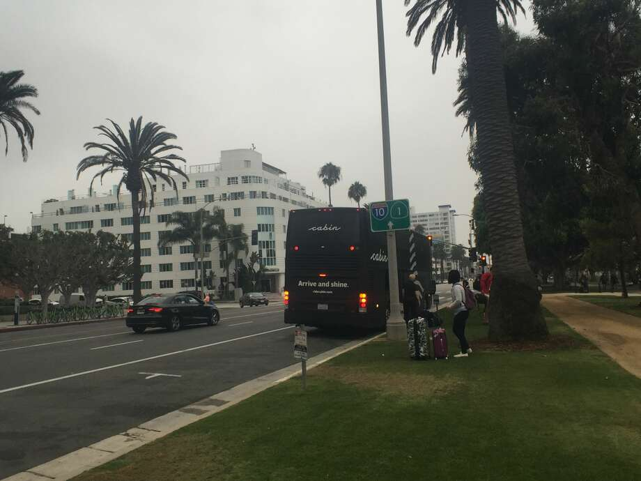 We arrived an hour and a half late, around 8:35 a.m. in foggy Santa Monica.  Photo: Alix Martichoux