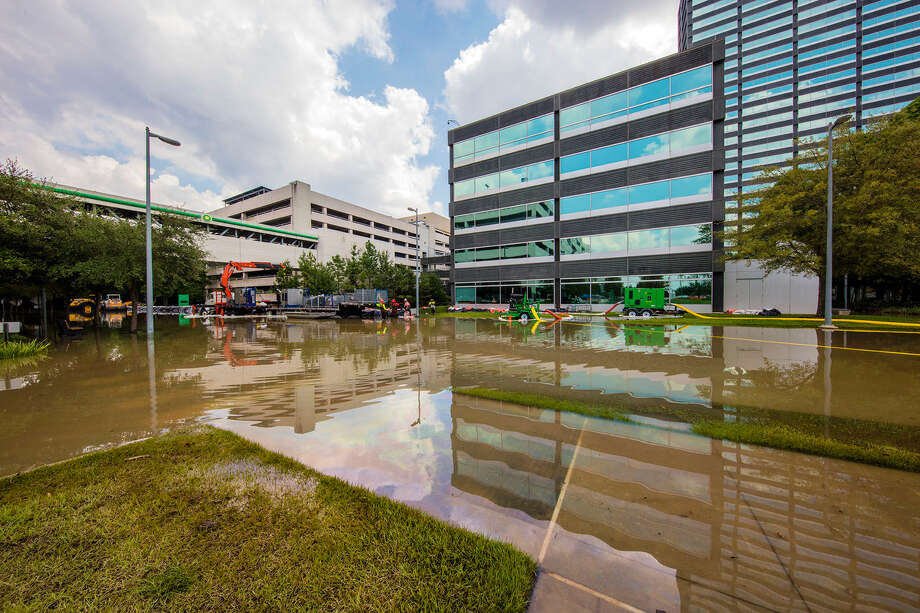 Hurricane Harvey flooded part of BP's campus in the Energy Corridor. A few buildings have reopened. Photo: Marc Morrison / ©2017 BP plc