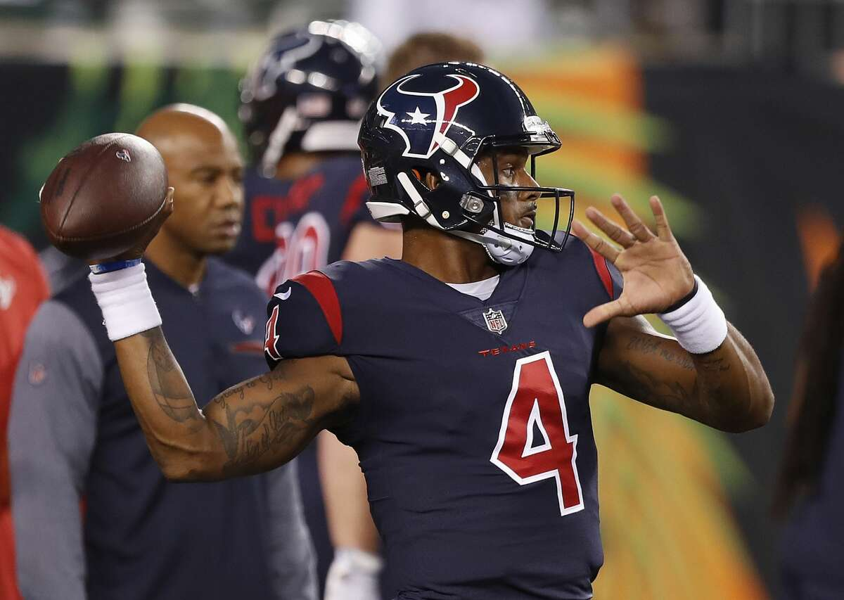 TEXANS' THREE KEYS TO VICTORY 1. Rookie quarterback Deshaun Watson has to avoid turnovers. He can't telegraph his throws by locking on to his receivers.
