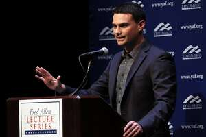Conservative political commentator Ben Shapiro speaks at Zellerbach Hall on the UC Berkeley campus in Berkeley, Calif., on Thursday, September 14, 2017.