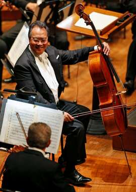 Yo Yo Ma during San Francisco Symphony Opening Night Gala concert at Davies Symphony Hall in San Francisco, Calif., on Thursday, September 14, 2017.
