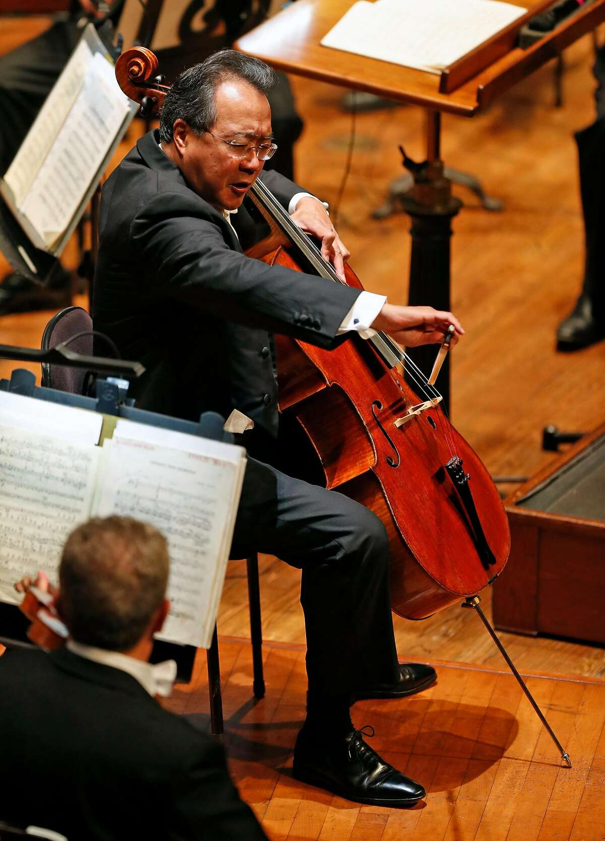 Yo Yo Ma during San Francisco Symphony Opening Night Gala concert at Davies Symphony Hall in San Francisco, Calif., on Thursday, September 14, 2017.
