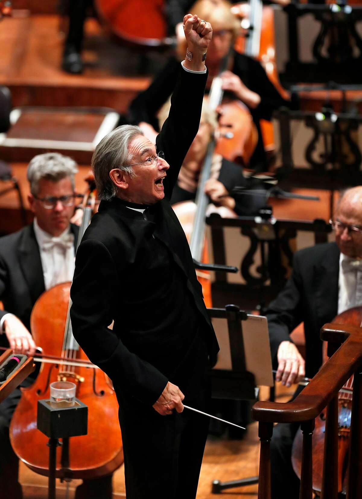 Music Director and Conductor Michael Tilson Thomas during San Francisco Symphony Opening Night Gala concert at Davies Symphony Hall in San Francisco, Calif., on Thursday, September 14, 2017.