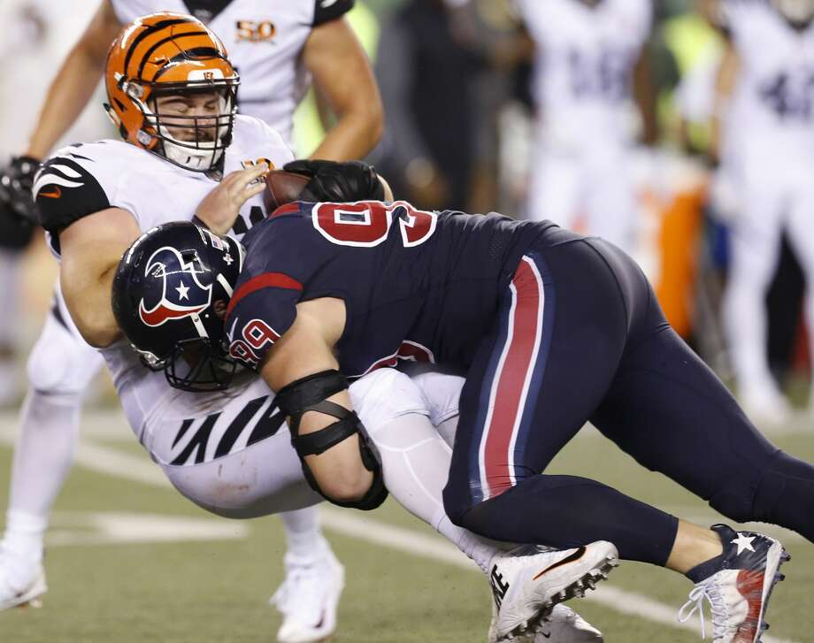 If J.J. Watt can return to his previous form after two years of injury-shortened seasons, that changes the dynamics of the Texans' defensive line in a big way. Photo: Brett Coomer/Houston Chronicle
