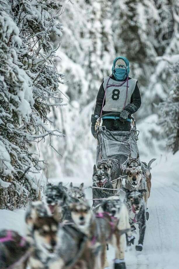 Gladwin native Shaynee (Seipke) Traska trains with her sled dog team. (Scott Chesney/Photo Provided) / © Scott Chesney All Rights Reserved