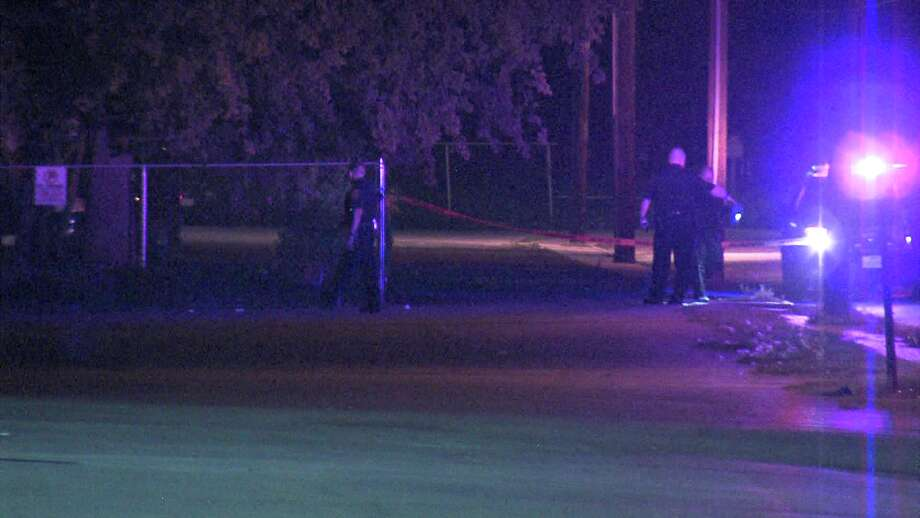 Police said three masked suspects shot the man, who is in his 30s, around 9:50 p.m. near Eisenhower Road and Harlow Drive. Photo: Ken Branca