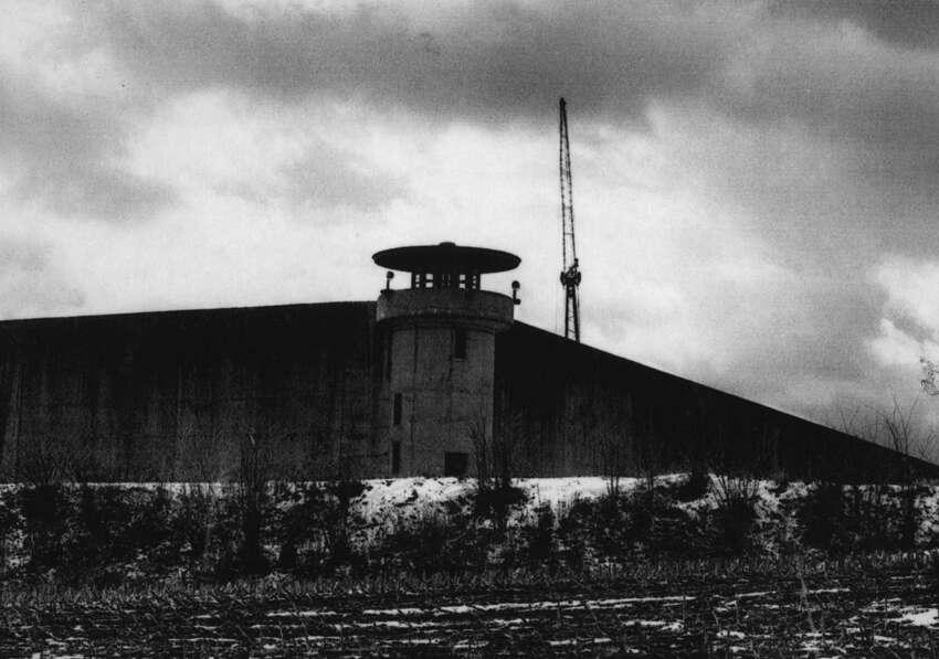 Prison wall surrounding Green Haven Correctional Facility on Nov. 24, 1965.