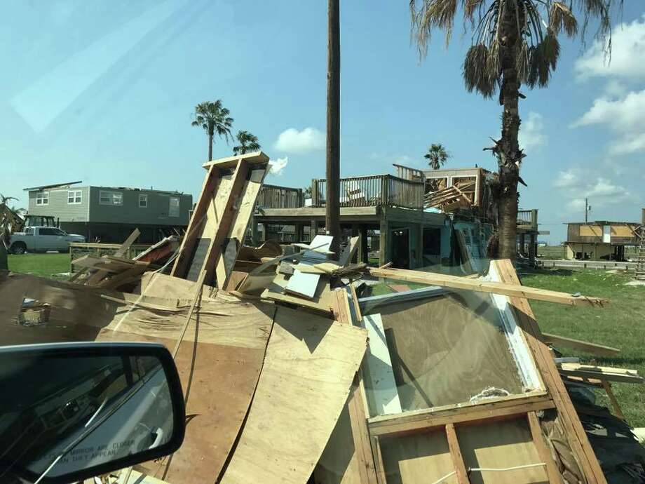 Bexar County Sheriff Javier Salazar traveled to Aransas County on Thursday to survey the damage caused by Hurricane Harvey. Photo: Bexar County Sheriff's Office