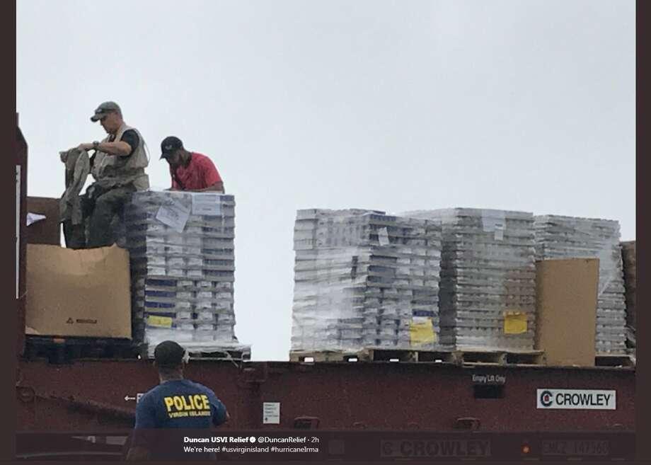 "@DuncanRelief: ""We're here! #usvirginisland #hurricaneIrma"" Photo: Twitter.com/DuncanRelief"