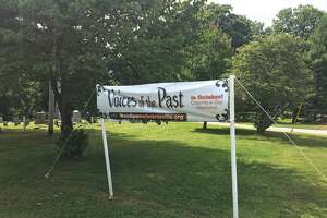 The sign is up at Woodlawn Cemetery announcing the fourth-annual Voices of the Past event, which is scheduled Columbus Day Weekend. During the two-day event, actors, while standing next to the grave stones of the very people they are portraying, will recount stories of some of those buried at Woodlawn. More information will be available at www.WoodlawnEdwardsville.org.