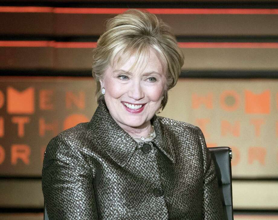 Former Secretary of State Hillary Clinton speaks during the Women in the World Summit in New York. Photo: Ap File Photo / Copyright 2017 The Associated Press. All rights reserved.
