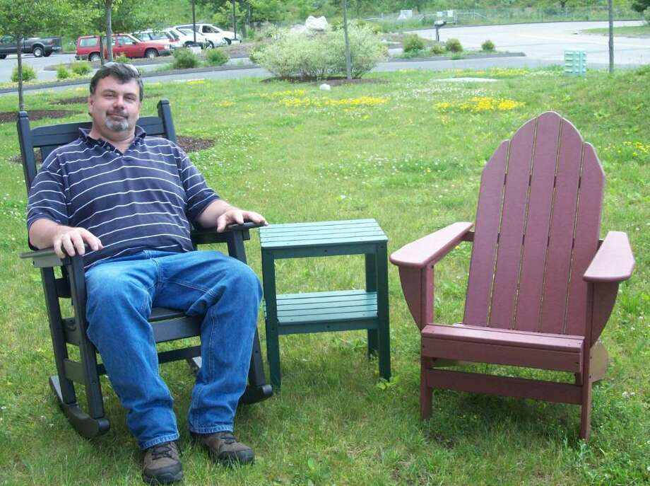 Brookfield's Professional Awning & Cover Care, founded in 2005, recently expanded its offerings by becomintg the exclusive New England dealer of lawn furniture made out of recycled milk and water jugs by By the Yard Inc. of Jordan, Minn. Photo: Contributed Photo / The News-Times Contributed