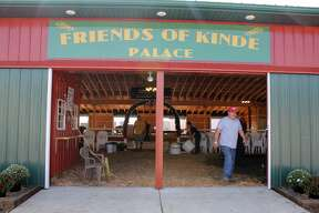 Organizers put the finishing touches on Friday afternoon at the Friends of Kinde Palace in preparation for this weekend's Kinde Polka Fest.