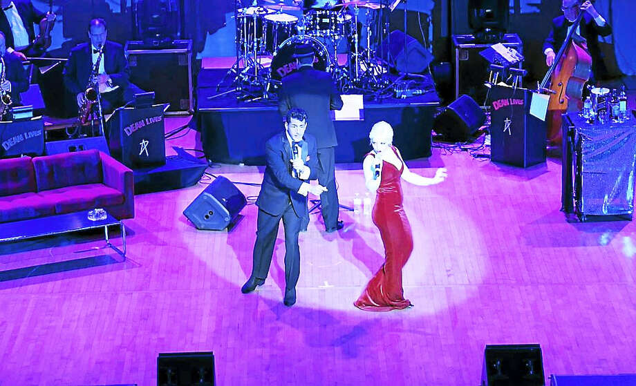 "In an Ohio performance of ""Dean Lives,"" Drew Anthony and Vanessa Ralls as Peggy Lee. Photo: Contributed"