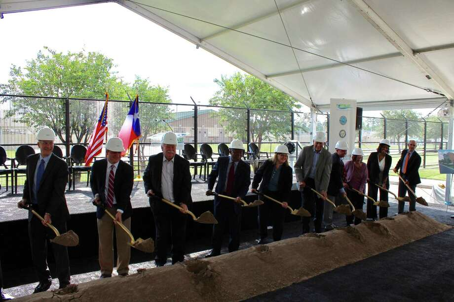 The Lake Houston Area leaders alongside Houston Mayor Sylvester Turner broke ground on the Northeast Water Purification Plant Expansion Project on Friday, Sept. 15. Photo: Courtesy Photo