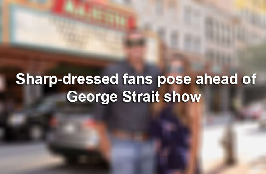 San Antonio dressed up for the star-studded Hurricane Harvey benefit show held at the Majestic Theatre Sept. 12, 2017 featuring George Strait, Miranda Lambert, Lyle Lovett, Robert Earl Keen and Chris Stapleton. Photo: Marco Garza For MySA.com