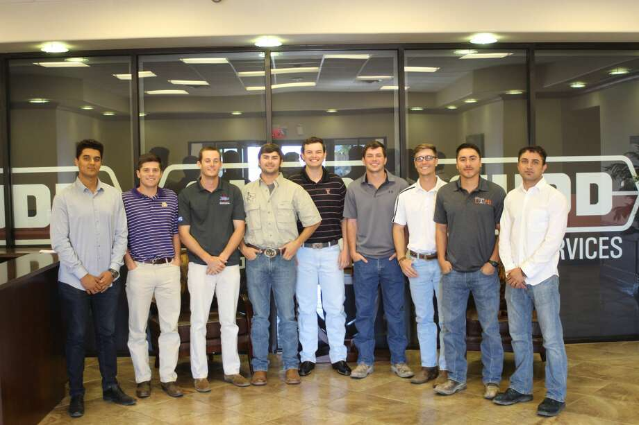 Cudd Energy Services hosted 10 interns this summer. They gathered for a photo at Cudd's Odessa facility. From left to right are Muhammad Khan, Texas Tech; Vincent Baiano, LSU; Hill Davenport, University of Tulsa; Heath Edgerton and Taylor Cooper, Texas Tech; Robert Dickey, University of Texas; Colton Matus, Texas Tech; DJ Galvan, UTPB, and Muzammil Said, Texas Tech. Not pictured was Donovan Degnan, UTPB. Photo: Photo Courtesy Cudd Energy